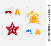 set of summer tourism icons | Shutterstock .eps vector #203520145