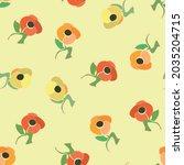 sweet scatter flower seamless... | Shutterstock .eps vector #2035204715