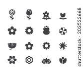 flower vector set | Shutterstock .eps vector #203522668