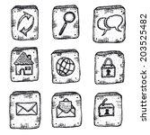 doodle web icons ui set ...