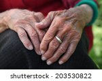 old woman's hands | Shutterstock . vector #203530822