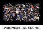 generative design artwork... | Shutterstock .eps vector #2035308788