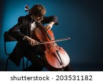 Cellist Playing Classical Musi...