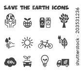 save the earth icons  mono... | Shutterstock .eps vector #203531236