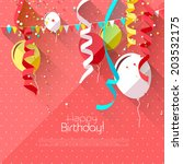 sweet birthday background with... | Shutterstock .eps vector #203532175