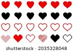 hearts of different shapes .... | Shutterstock .eps vector #2035328048