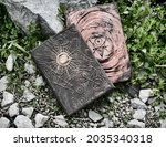 grunge still life with two...   Shutterstock . vector #2035340318