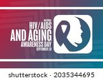 national hiv  aids and aging... | Shutterstock .eps vector #2035344695