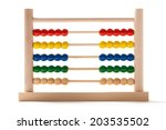 Wooden Abacus In Position...