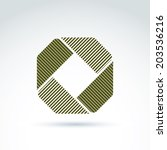 geometric abstract symbol ... | Shutterstock .eps vector #203536216