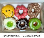 Colorful Donuts With Various...