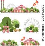 urban amusement park circus... | Shutterstock . vector #203543032