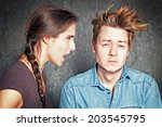 communication problem | Shutterstock . vector #203545795