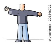 cartoon body with open arms  ... | Shutterstock .eps vector #203546722