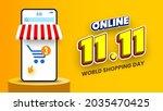 11.11 online shopping day sale... | Shutterstock .eps vector #2035470425