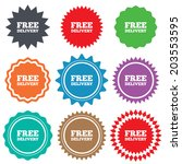 free delivery sign icon.... | Shutterstock . vector #203553595