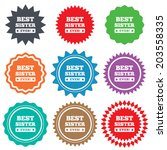 best sister ever sign icon.... | Shutterstock . vector #203558335