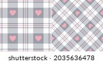 check pattern with hearts for... | Shutterstock .eps vector #2035636478