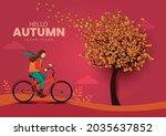 hello autumn stylish background ... | Shutterstock .eps vector #2035637852