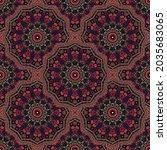geometric medallion vector...   Shutterstock .eps vector #2035683065