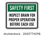 safety first  inspect brain for ... | Shutterstock .eps vector #2035774298