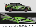car livery wrap decal  rally... | Shutterstock .eps vector #2035841015