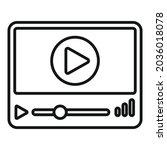 modern playlist icon outline...