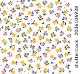 cute floral pattern in the... | Shutterstock .eps vector #2036106938