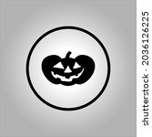 pumpkin icon or logo. the main... | Shutterstock .eps vector #2036126225