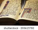Antique Paper Book Open Pages...