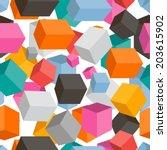 seamless geometric pattern | Shutterstock .eps vector #203615902
