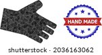 low poly hand polygonal symbol... | Shutterstock .eps vector #2036163062