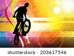 sport vector illustration  eps... | Shutterstock .eps vector #203617546