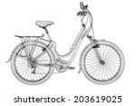 mountain bicycle 3d model  body ... | Shutterstock . vector #203619025