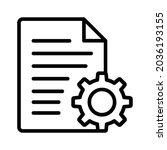 document settings or file... | Shutterstock .eps vector #2036193155