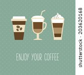 coffee cup  vintage card | Shutterstock .eps vector #203620168