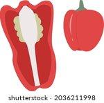 paprika pepper illustration red ...   Shutterstock .eps vector #2036211998