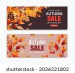autumn sale banner template...   Shutterstock .eps vector #2036221802