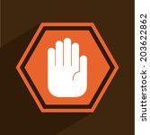 hand design over brown... | Shutterstock .eps vector #203622862