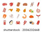 meat products fish poultry...   Shutterstock .eps vector #2036232668