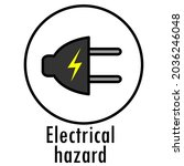 danger icon. warning danger...   Shutterstock .eps vector #2036246048