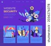 security of website ...   Shutterstock .eps vector #2036276378