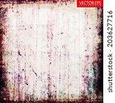 grunge vector background | Shutterstock .eps vector #203627716