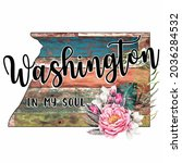 washington in my soul colorful...   Shutterstock .eps vector #2036284532