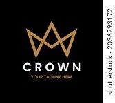 simple crown logo design...   Shutterstock .eps vector #2036293172