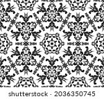 seamless vintage pattern with... | Shutterstock .eps vector #2036350745