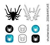 Abstract Tarantula Spider Icon...