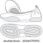 editable sporty womens...   Shutterstock .eps vector #2036470592