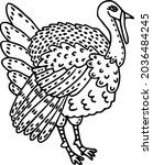 cute cartoon gobbler. doodle of ...   Shutterstock .eps vector #2036484245