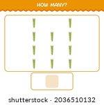 how many cartoon asparagus.... | Shutterstock .eps vector #2036510132